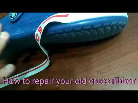 How to repair your old crocs ribbon