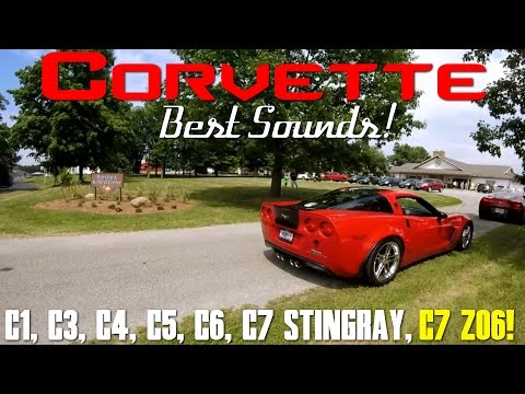 BEST Corvette Exhaust Sound Compilation! C1, C3, C4, C5, C6, C7 Stingray and C7 Z06!