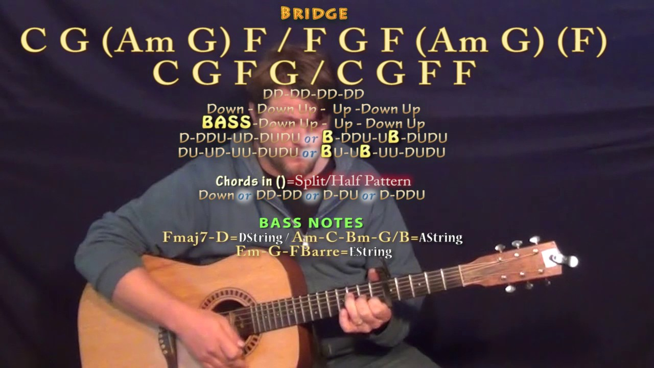 Better Man (Little Big Town) Guitar Lesson Chord Chart - Capo 5th