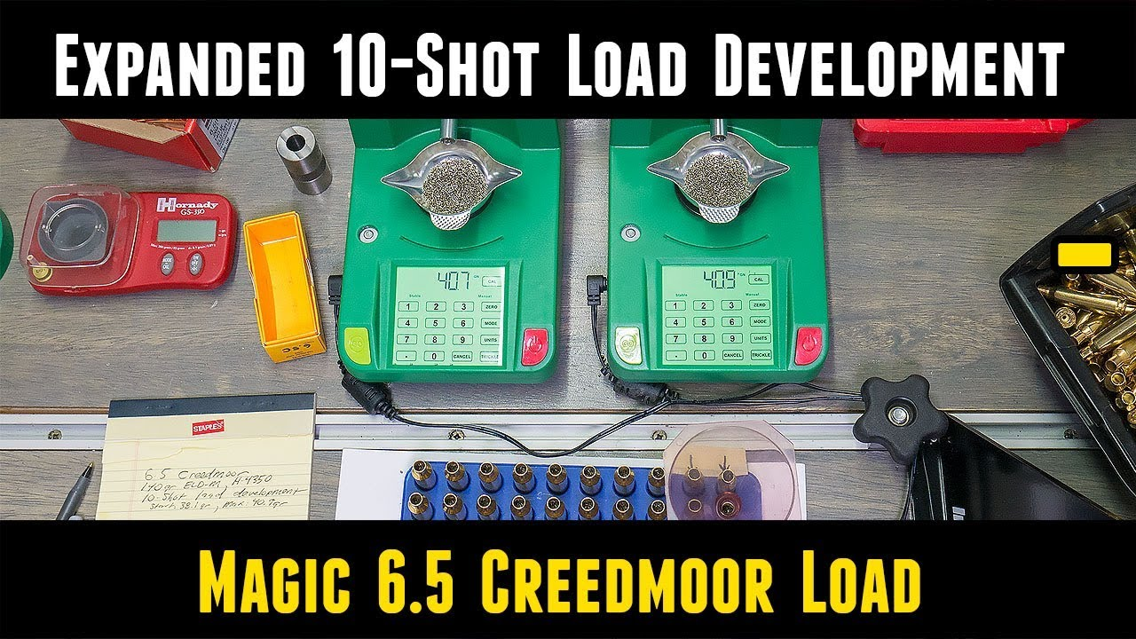 Expanded 10 Shot Load Development for 6 5 Creedmoor