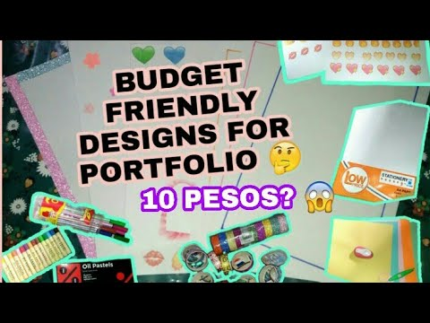 AFFORDABLE PORTFOLIO DESIGN IDEAS 2019!! R&R Crafts and Vlogs (Philippines)