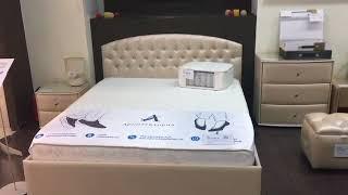 Обзор мягкой интерьерной кровати Пальмира