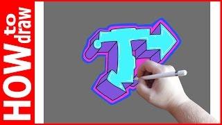 Как нарисовать граффити буквы, Т № 1(INSTAGRAM: https://www.instagram.com/dmitrysyrman/ Я в ВКОНТАКТЕ: http://vk.com/syrman_d Группа в ВКОНТАКТЕ: http://vk.com/public59608073 I'm on ..., 2016-09-26T02:25:36.000Z)