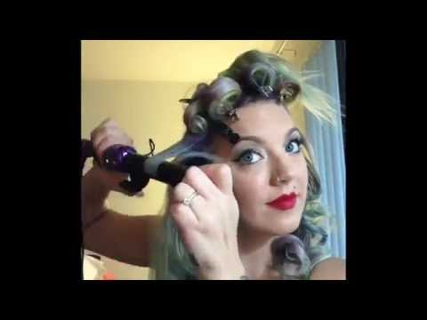 Learn how to easy vintage hairstyle with curls