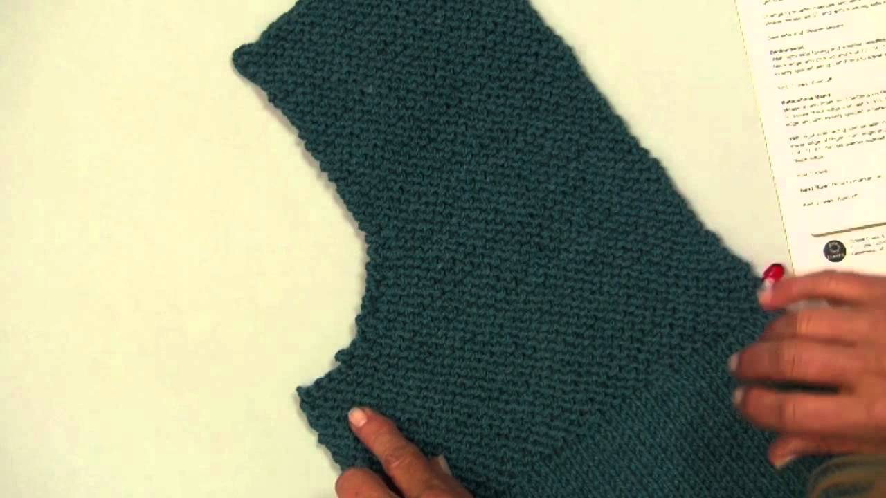 Knit Along Simple Spring Swing Cardigan Part 2 - YouTube