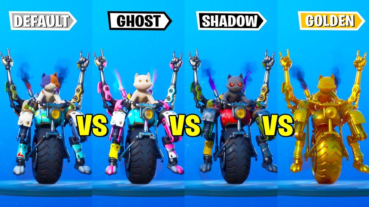 Default Kit Vs Ghost Kit Vs Shadow Kit Vs Gold Kit Fortnite Dance Battle Go Cat Go Scenario Youtube