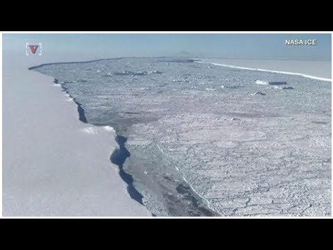 Massive Antarctic ice shelf the size of delaware slowly on the move as scientists get up-close look