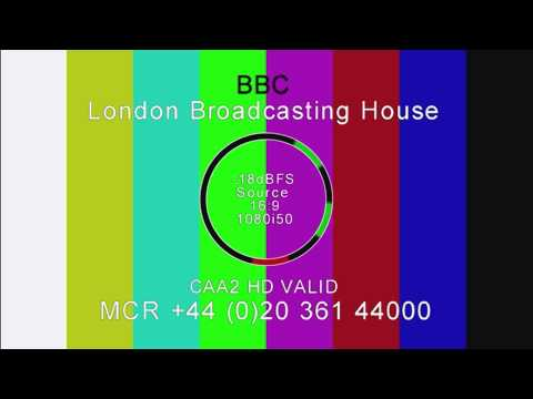 BBC London Broadcasting House Test Card