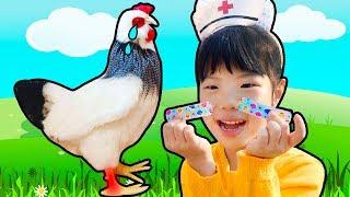 착한 일을 하면 무슨 선물을 받을까요? 유니의 스팽글 인형 레인보우콘 서프라이즈 캡슐 핑크퐁놀이 RainboCorns Hide & Seek Toy for kids - Romiyu