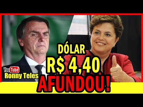 DÓLAR Bate R$ 4,40! Parabéns Jair Bolsonaro E Paulo Guedes!