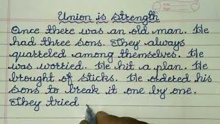 Union is Strength Story in English ✍ @Sunflower