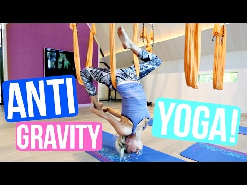 FIRST TIME TRYING ANTI-GRAVITY YOGA!