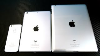 iPad Mini Hands On Preview VS iPad 3 - All New Smaller iPad Sneak Peak