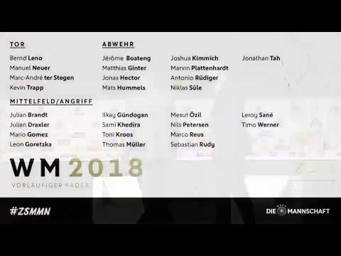 🔥🇩🇪🏆 Joachim Löw nominiert den vorläufigen WM-Kader ➡ Jetzt LIVE!