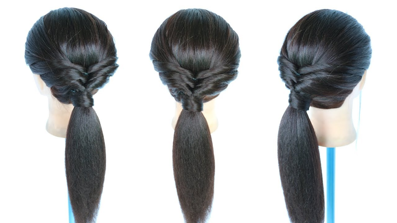 Quick Everyday Twisted Low Ponytail Ponytail Ponytail