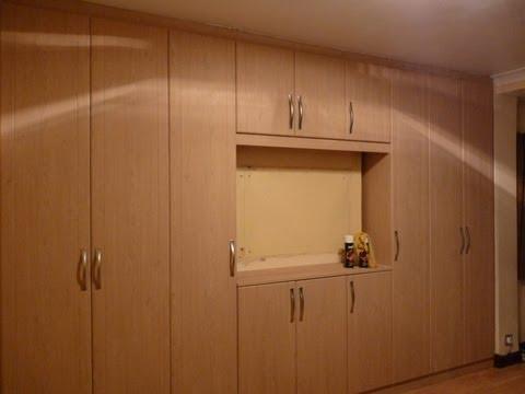 Built In Wardrobes Oak Exterior White Interior Led