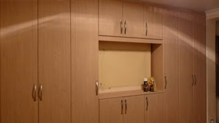Built In Wardrobes | Oak Exterior | White Interior | Led Strip Lighting