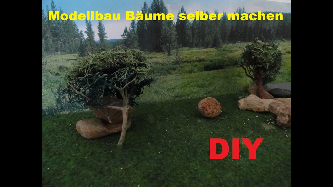 diy realistische modellbau b ume selber bauen modelleisenbahn gel ndebau baum herstellen. Black Bedroom Furniture Sets. Home Design Ideas