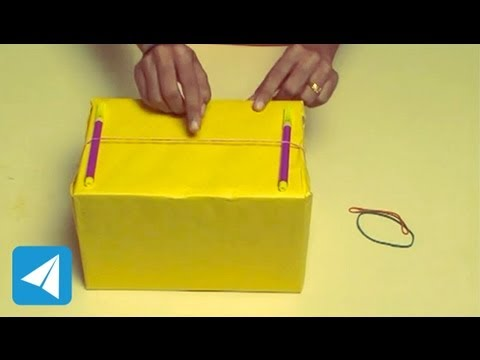 Rubber Band With Hollow Box Produces Sound Sound