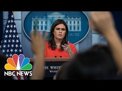 Watch Live: White House Press Briefing - November 17, 2017