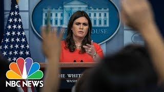 connectYoutube - White House Press Briefing - November 17, 2017 (Full) | NBC News