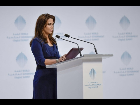 HRH Princess Haya talks about the future of humanitarian aid at the World Government Summit in Dubai