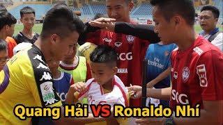 Thử Thách Bóng Đá Với Quang Hải U23 Việt Nam và Ronaldo Hà Nam PVF cực bất ngờ