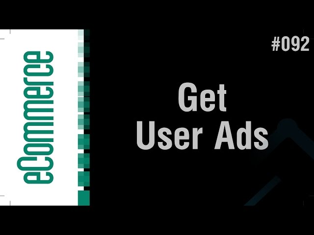 eCommerce Shop in Arabic #092 - Get User Ads & Comments in Profile Page