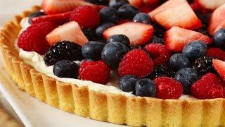 Easy Fruit Tart Recipe Demonstration - Joyofbaking.com