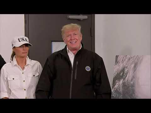 Trump Arrives in Georgia After Hurricane Michael