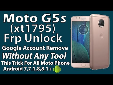 Motorola Moto G5 Plus (XT1686) FRP Unlock or Google Account Bypass Easy  Trick Without PC