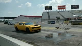 2018 Dodge Demon on the drag strip