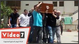 تشييع جنازة والد الفنانة شيرين وجدى من مسجد آل رشدان