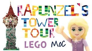 Rapunzel's Tower Tour (from Tangled) - custom LEGO creation (stop motion)