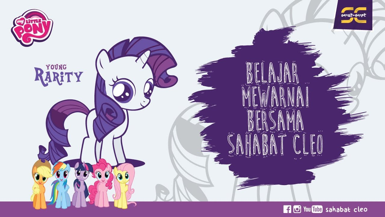 Belajar Mewarnai Di Paint Young Rarity My Little Pony Sahabatcleo