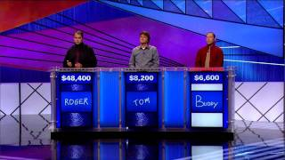 Jeopardy! Tournament of Champions Finals  Day 1 (11/14/11) Pt. 2