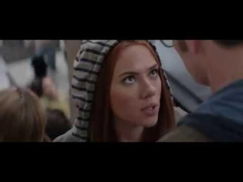 Стив целует Наташу.  Первый Мститель: Другая война. 2014