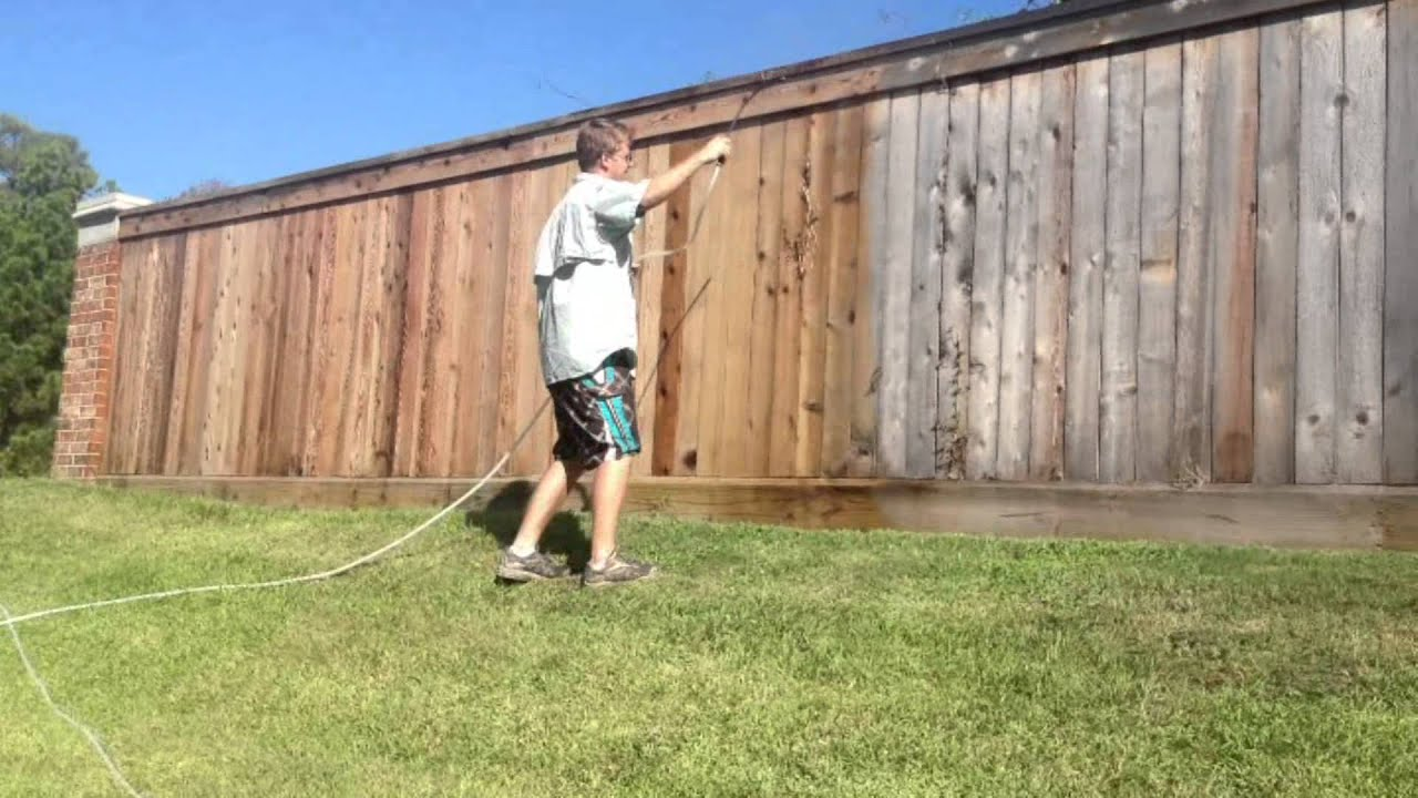 cleaning a cedar fence by fencekeeper of houston texas your