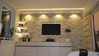 Szafarek,Handy man, Ściana TV, Kamień dekoracyjny,ozdobny,TV Wand, Multimedia,Home,interiors,design