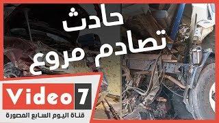 حادث تصادم مروع قتلى بينهم أطفال ومصابين على طريق العاشر من رمضان Youtube