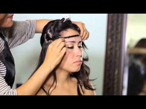 How to Create a Casual Updo With Braided Accents : Tress to Impress