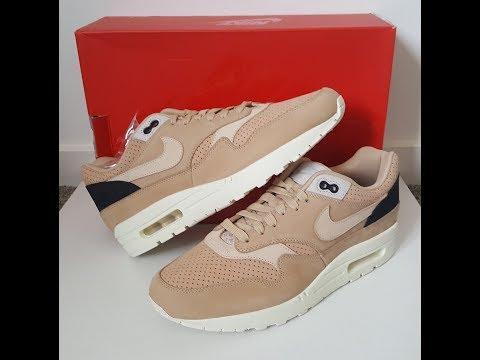 unboxing unpacking NIKELAB Nike Air Max 1 Pinnacle Mushroom Oatmeal Bio Beige code 859554 200