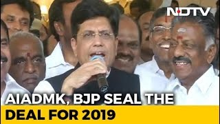 """""""Will Sweep Elections"""": BJP, AIADMK Join Hands For Lok Sabha Polls"""