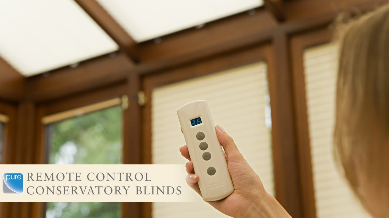 Remote control conservatory blinds youtube solutioingenieria Image collections