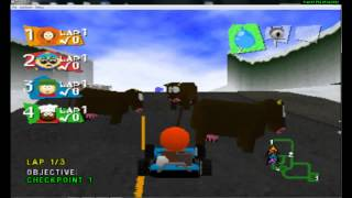 south park rally ps1 with game intro episode 35 season 1 finale