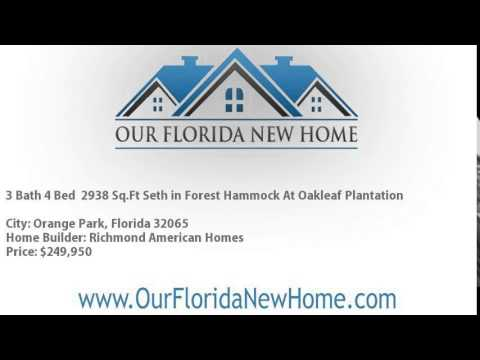 4 Bed 3 Bath 2938 SqFt By Richmond American Homes In Forest Hammock At Oakleaf Plantation Orange Our Florida New Home