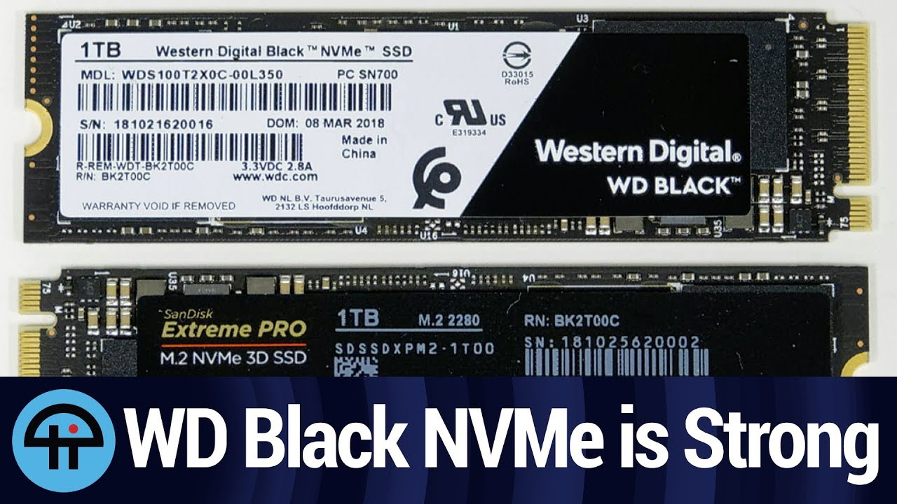 The Outstanding WD Black NVMe & SanDisk Extreme PRO M 2 NVMe 3D 1TB SSD
