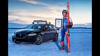 Jaguar XF Sportbrake - Fastest Towed Speed on Skis - GUINNESS WORLD RECORDS™
