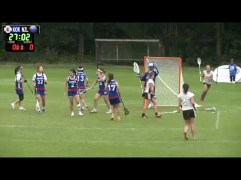 LACROSSE U19 Championship - New Zealand v Republic of Korea Sunday 26th Jul 2015 17 30pm