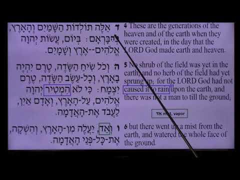 히브리어성경연구(창세기(2)) 11-23-2019 성경원어연구소(팔리세이드팍 뉴저지) 최원섭목사(뉴저지말씀교회)